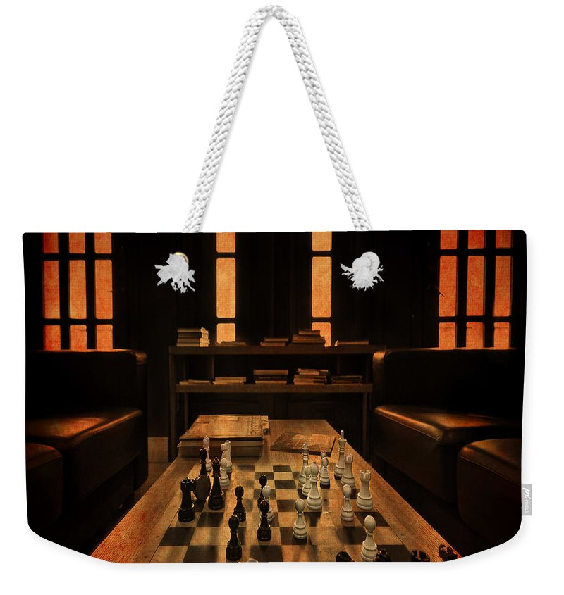 Spassky Weekender Tote Bag featuring the photograph Checkmate by Evelina Kremsdorf