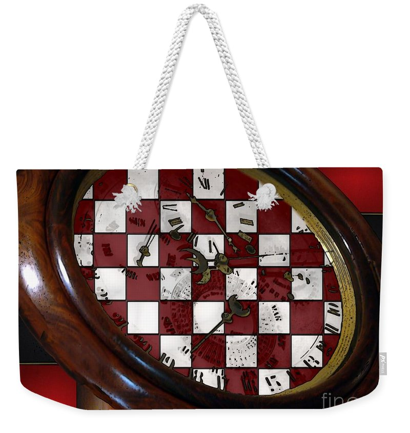 Antique Weekender Tote Bag featuring the painting Checkmate by RC DeWinter