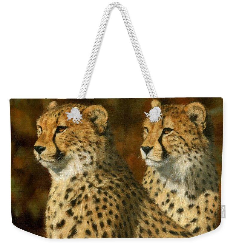 Cheetah Weekender Tote Bags