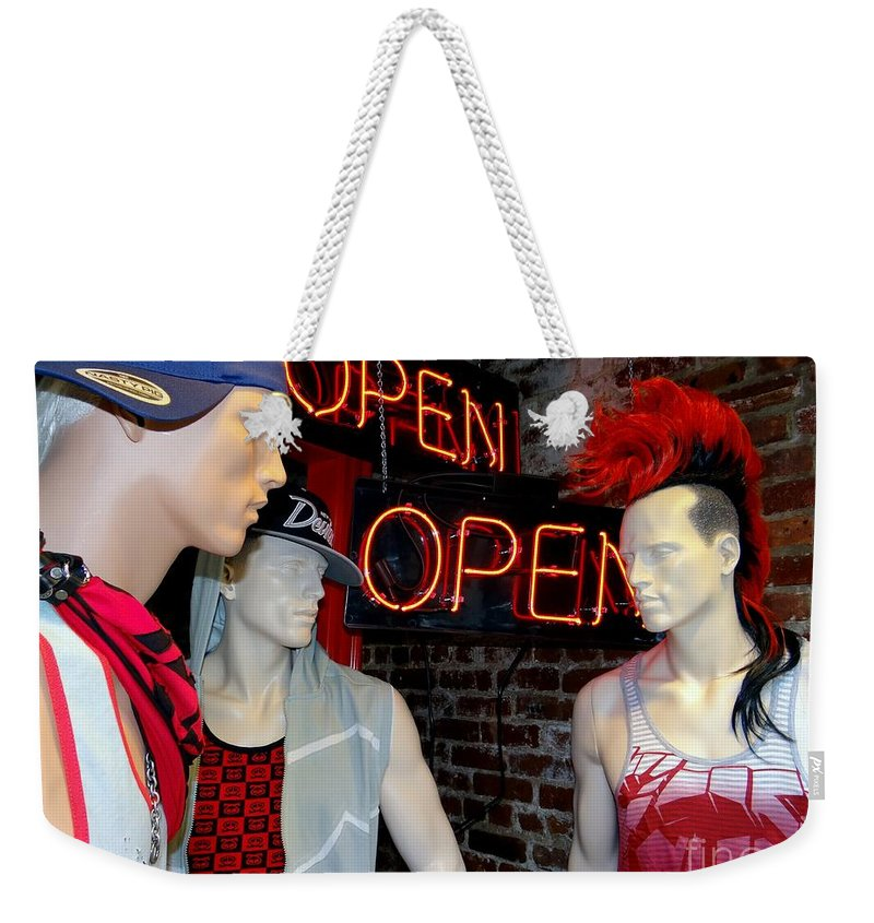 Mannequins Weekender Tote Bag featuring the photograph Chelsea Boys by Ed Weidman