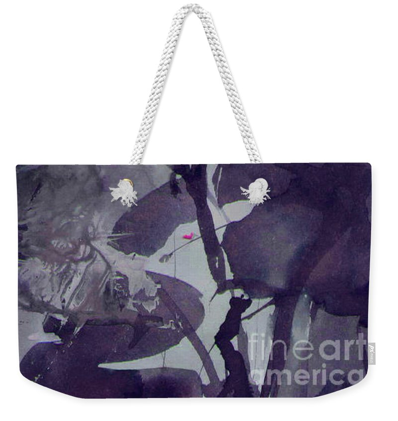 Ink Weekender Tote Bag featuring the painting Chemistry by Cristina Handrabur