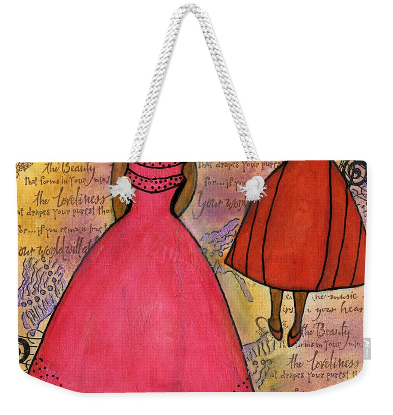 Women Weekender Tote Bag featuring the painting Cherish The Music... by Angela L Walker