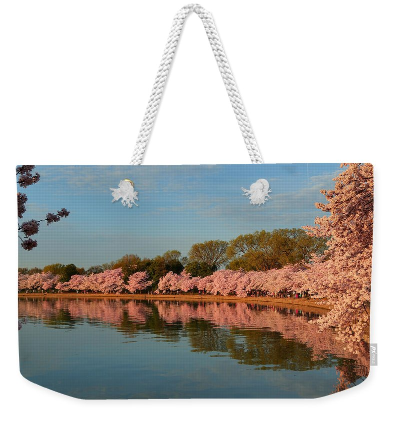Architectural Weekender Tote Bag featuring the photograph Cherry Blossoms 2013 - 001 by Metro DC Photography