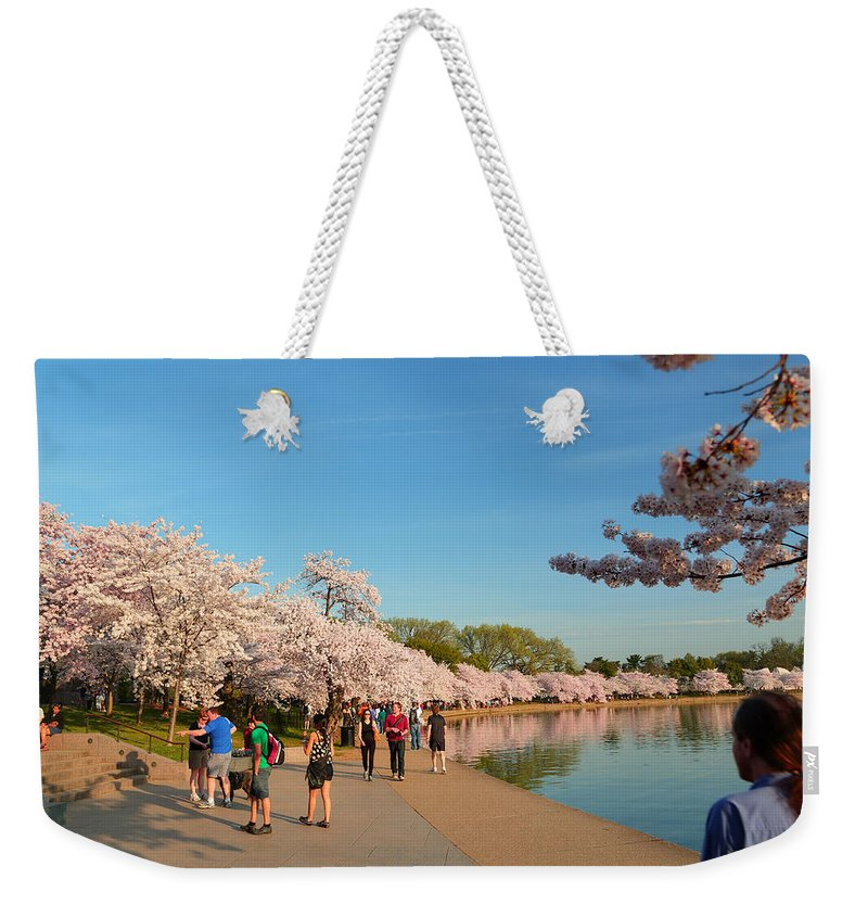 Architectural Weekender Tote Bag featuring the photograph Cherry Blossoms 2013 - 020 by Metro DC Photography