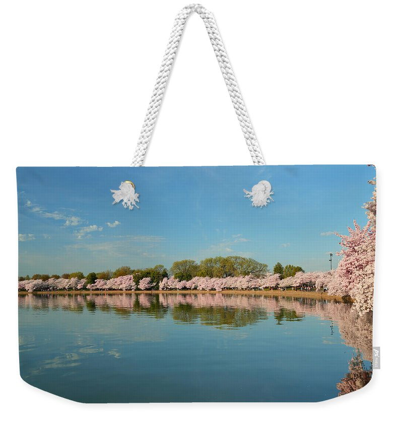 Architectural Weekender Tote Bag featuring the photograph Cherry Blossoms 2013 - 026 by Metro DC Photography
