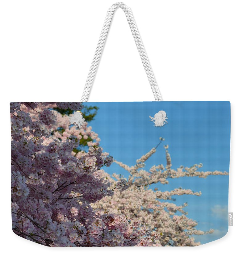 Architectural Weekender Tote Bag featuring the photograph Cherry Blossoms 2013 - 046 by Metro DC Photography