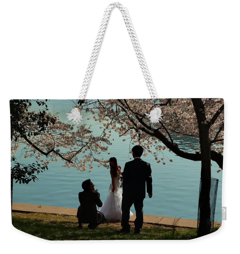 Architectural Weekender Tote Bag featuring the photograph Cherry Blossoms 2013 - 054 by Metro DC Photography