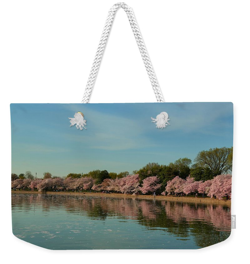 Architectural Weekender Tote Bag featuring the photograph Cherry Blossoms 2013 - 088 by Metro DC Photography