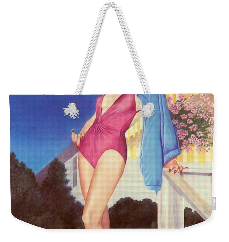 Sensual Weekender Tote Bag featuring the painting Cherry Hill New Jersey by Mary Ann Leitch