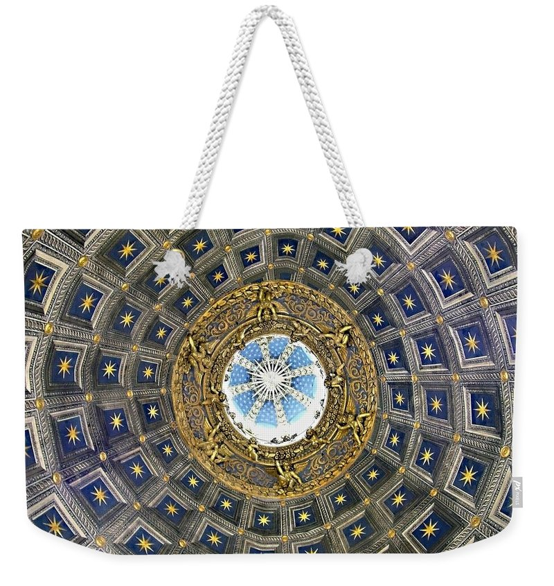 Cherubic Cupola Weekender Tote Bag featuring the photograph Cherubic Cupola by Ellen Henneke