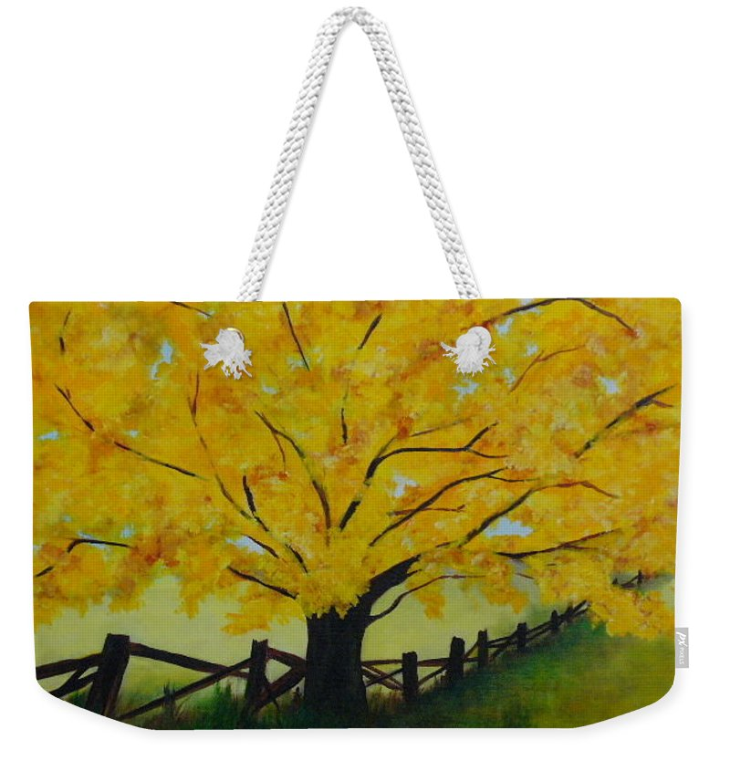 Lyle Weekender Tote Bag featuring the painting Cheryl's Tree by Lord Frederick Lyle Morris - Disabled Veteran