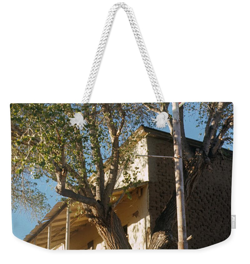 Chevron Station Ghost Town Gleeson Arizona 1972 Weekender Tote Bag featuring the photograph Chevron Station Ghost Town Gleeson Arizona 1972 by David Lee Guss