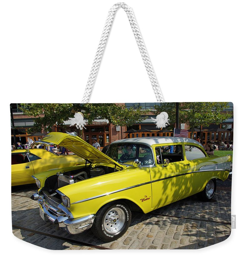 2d Weekender Tote Bag featuring the photograph Chevy Classic by Brian Wallace