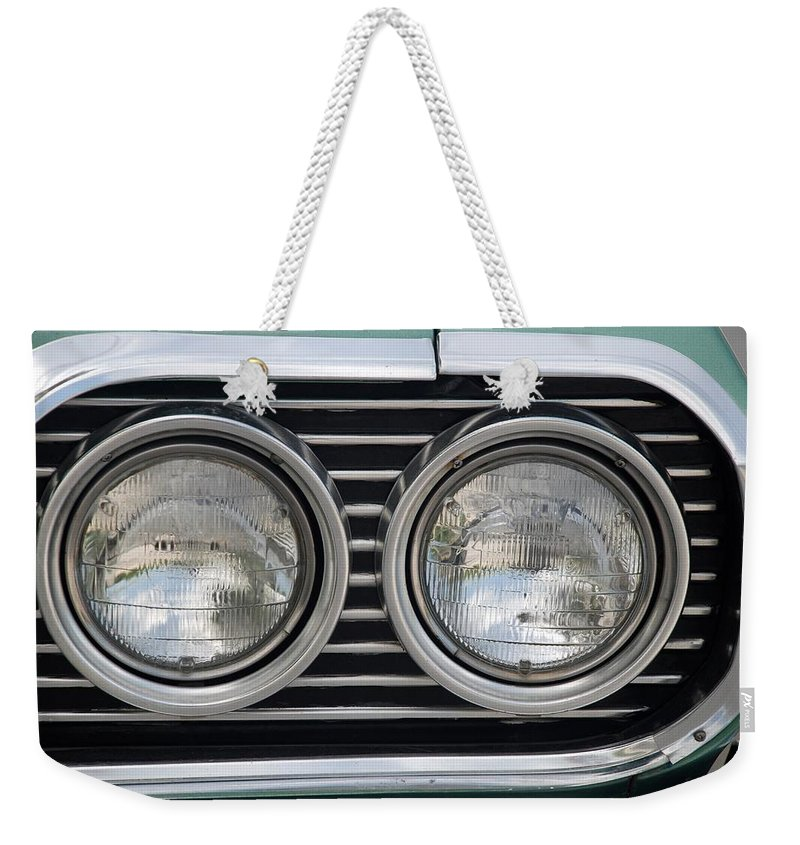 Chevrolet Weekender Tote Bag featuring the photograph Chevy Lights by Rob Hans