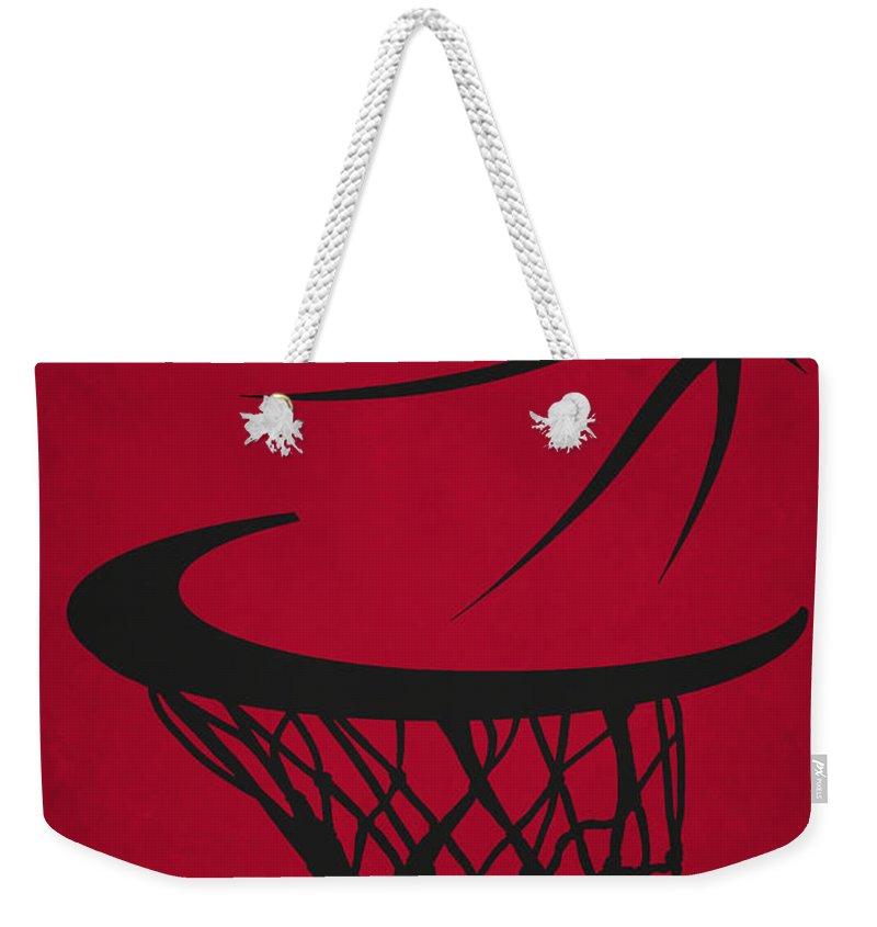 Bulls Weekender Tote Bag featuring the photograph Chicago Bulls Hoop by Joe Hamilton