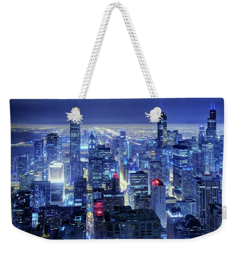 Tranquility Weekender Tote Bag featuring the photograph Chicago by Thomas Kurmeier
