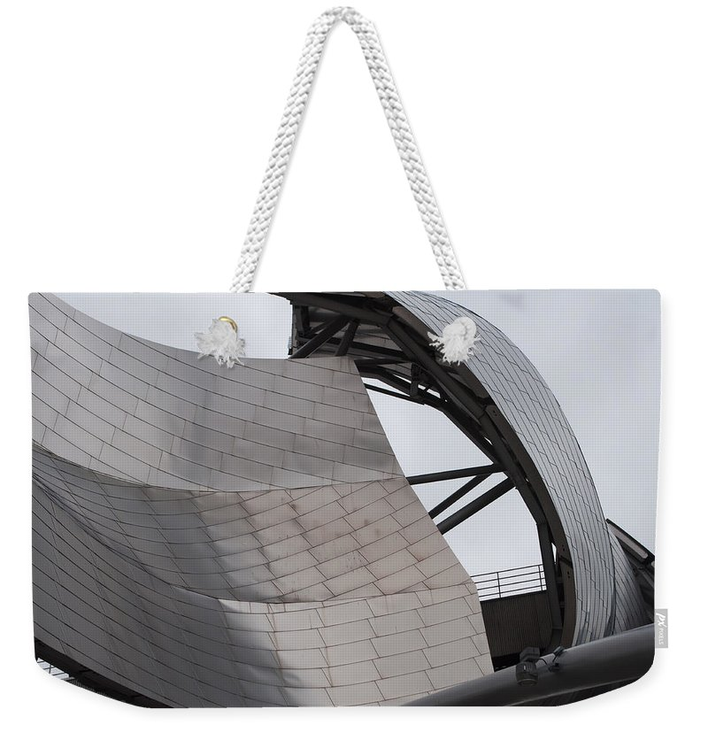View Weekender Tote Bag featuring the photograph Chicago Titanium Architecture by Alex Grichenko