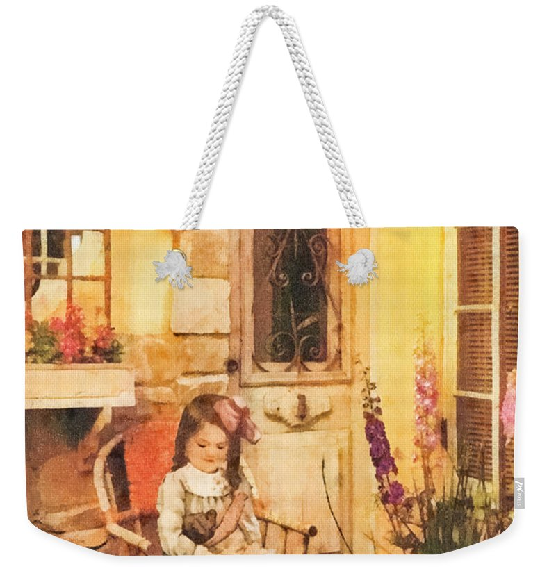 Childhood Weekender Tote Bag featuring the painting Childhood by Mo T