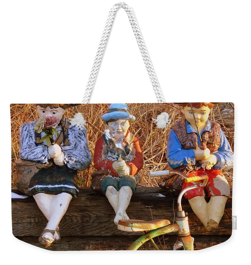 Statues Weekender Tote Bag featuring the photograph Childhood by Rodney Lee Williams