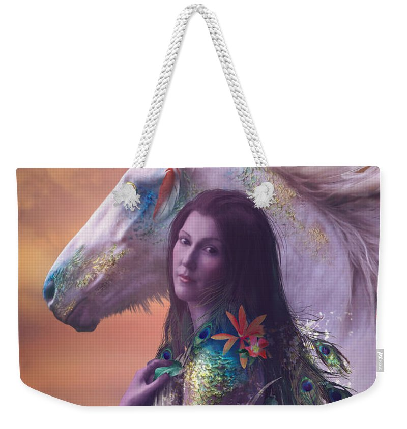 Fantasy Weekender Tote Bag featuring the digital art Children Of Rihm by Cassiopeia Art