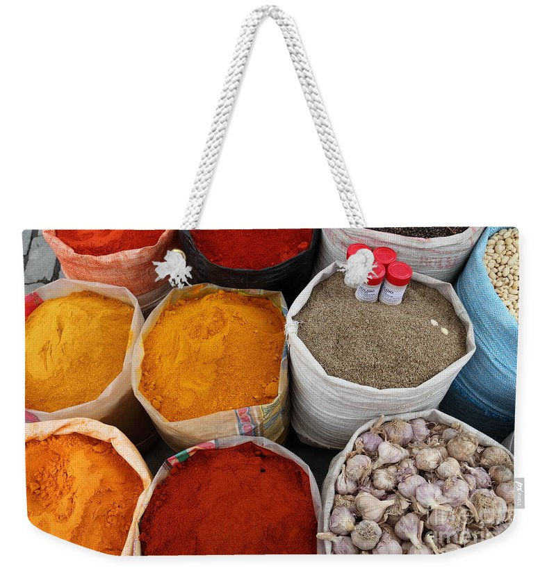 Chilli Weekender Tote Bag featuring the photograph Chilli Powders 4 by James Brunker