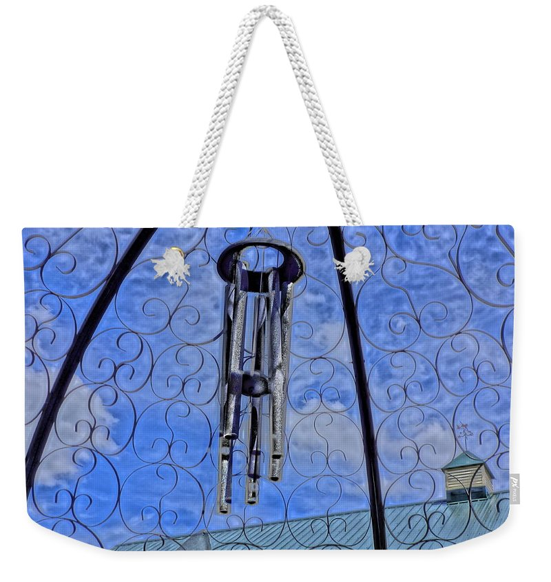 Chimes Weekender Tote Bag featuring the digital art Chimes by Barkley Simpson