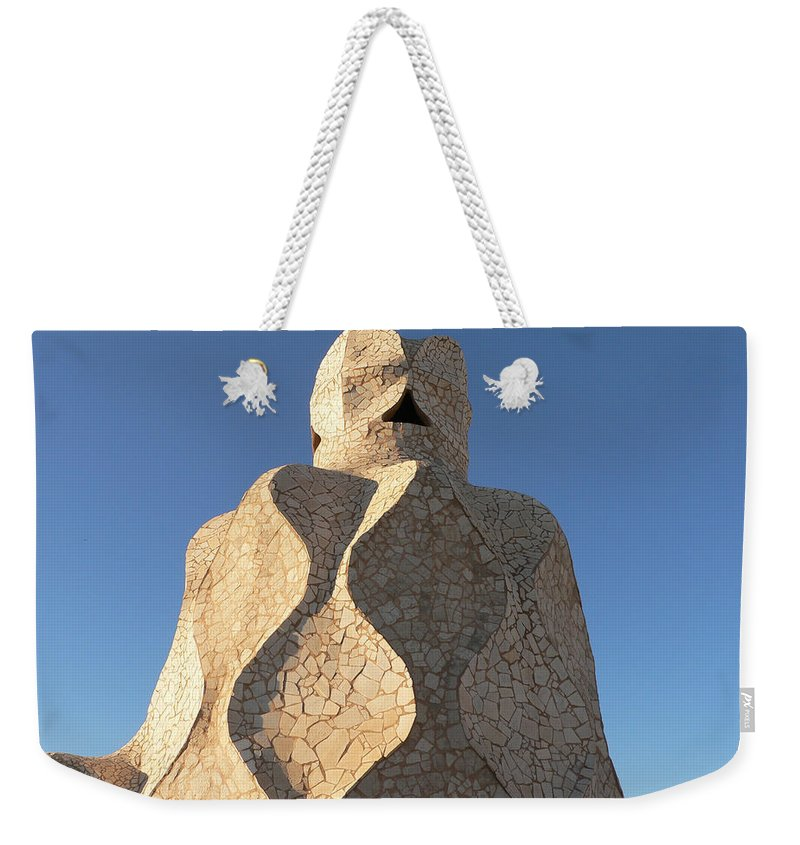 Gaudi Weekender Tote Bag featuring the photograph Xemeneia by Michael Tokarski