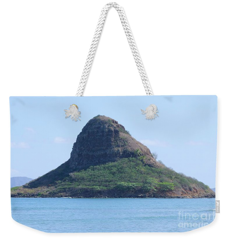 Island Weekender Tote Bag featuring the photograph Chinaman's Cap by Mary Deal