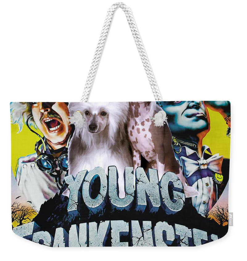 cf2a678138 Chinese Crested Weekender Tote Bag featuring the painting Chinese Crested  Art Canvas Print - Young Frankenstein