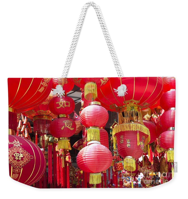 Art Weekender Tote Bag featuring the photograph Chinese Red Lanterns by Jacek Malipan