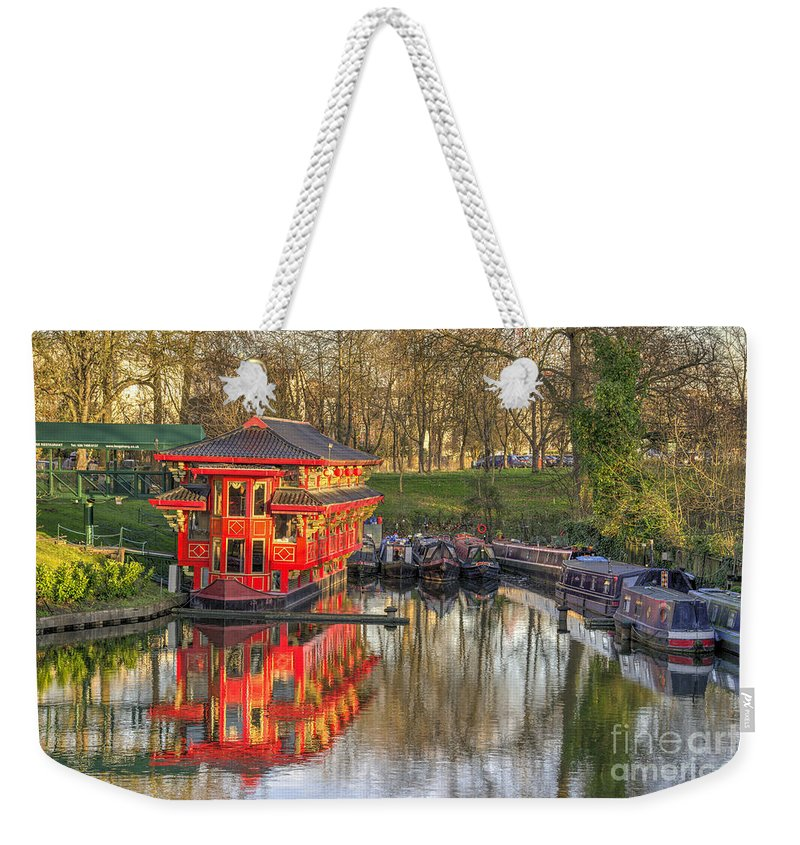 Chinese Weekender Tote Bag featuring the photograph Chinese Reflections by Rob Hawkins