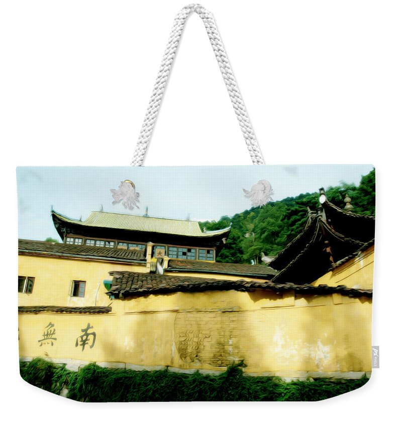 Anhui Province Weekender Tote Bag featuring the photograph Chinese Temple by Tracy Winter