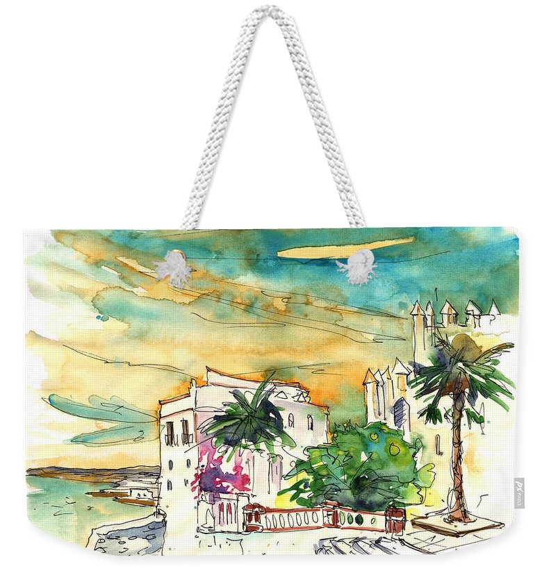 Travel Weekender Tote Bag featuring the painting Chipiona Spain 04 by Miki De Goodaboom