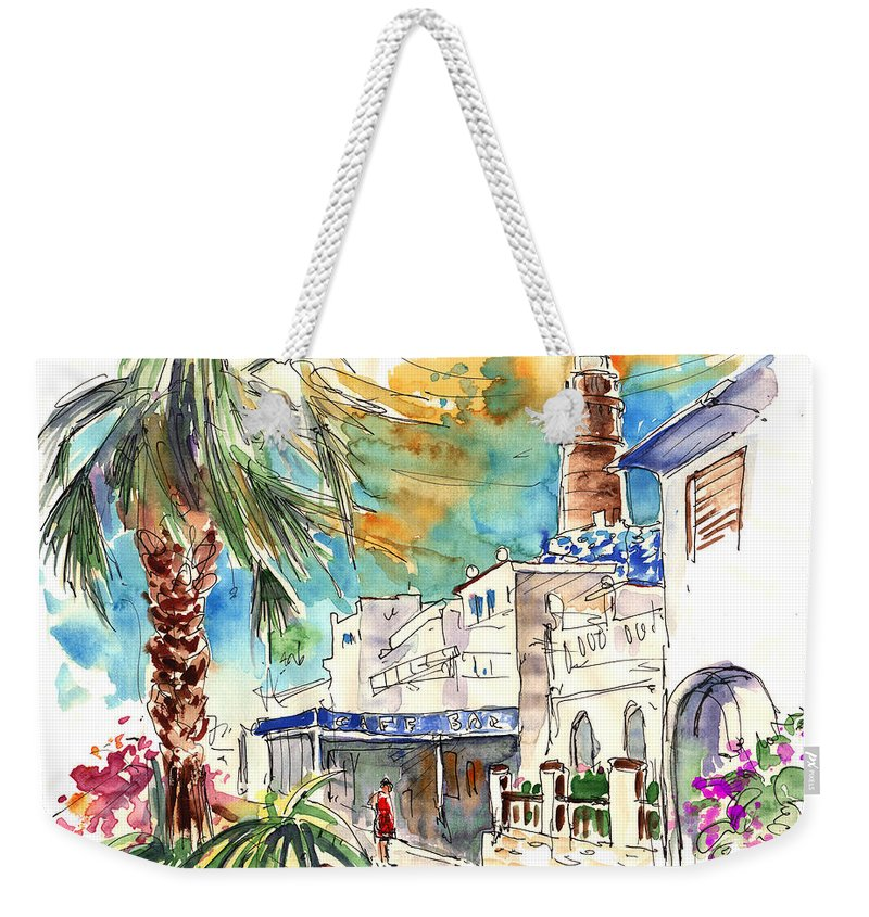 Travel Weekender Tote Bag featuring the painting Chipiona Spain 05 by Miki De Goodaboom