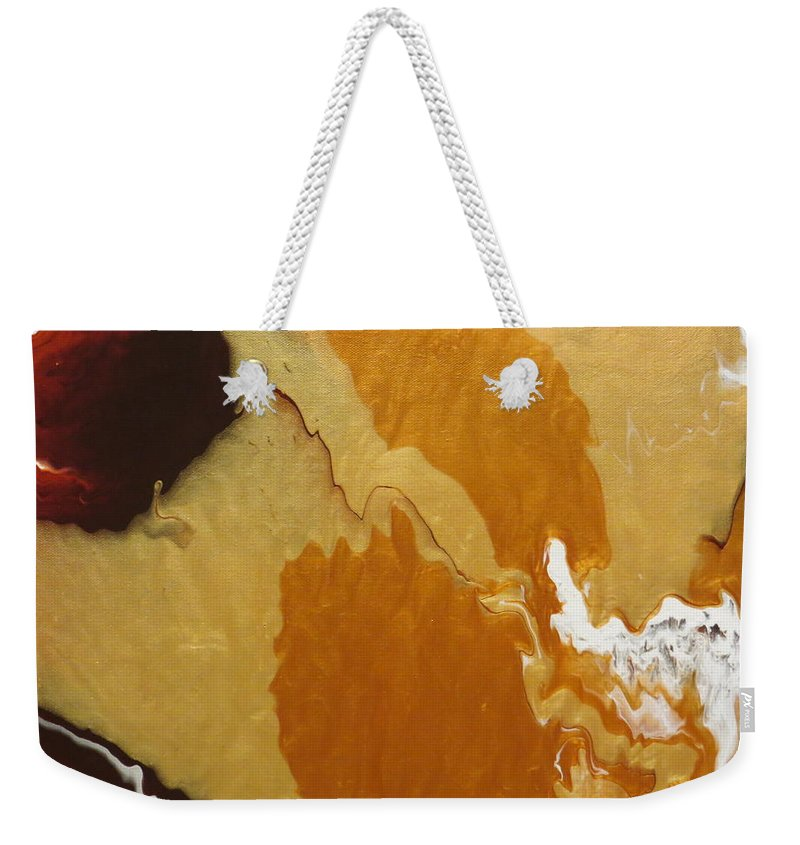 Abstract Weekender Tote Bag featuring the painting Chocolate And Caramel  by Soraya Silvestri