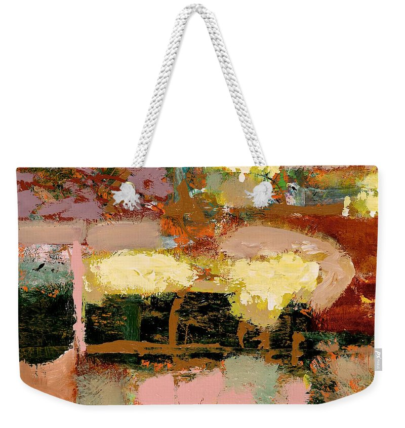 Landscape Weekender Tote Bag featuring the painting Chopped Liver by Allan P Friedlander