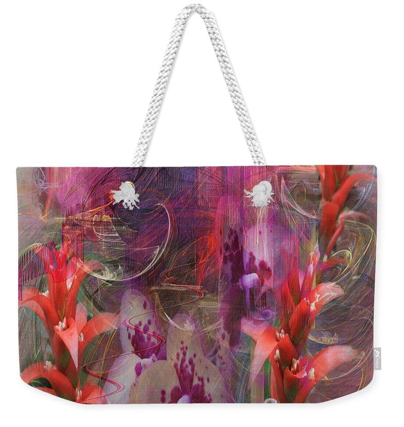 Floral Weekender Tote Bag featuring the digital art Chosen Ones - Square Version by John Robert Beck