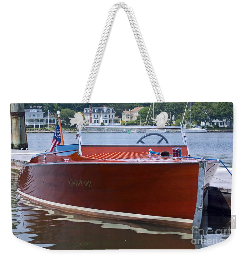 Mystic Weekender Tote Bag featuring the photograph Chris Crafted by Joe Geraci