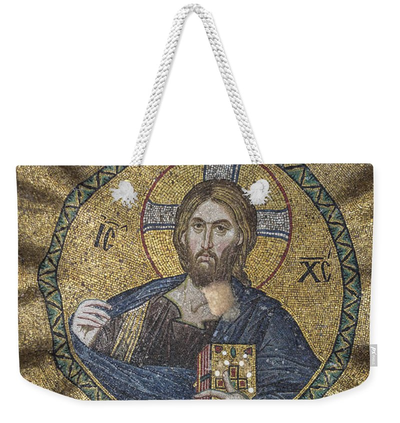 Old Testament Weekender Tote Bag featuring the photograph Christ Pantocrator Surrounded By The Prophets Of The Old Testament 2 by Ayhan Altun