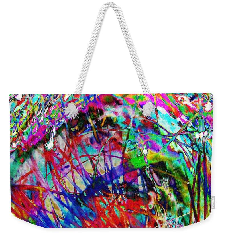 Christmas Weekender Tote Bag featuring the digital art Christmas 2 by Carol Lynch