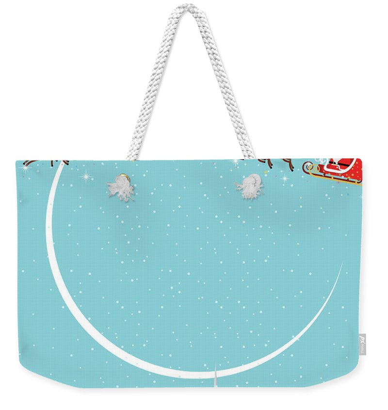 Holiday Weekender Tote Bag featuring the digital art Christmas Background by Akindo