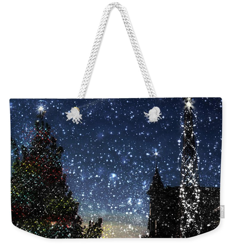 Christmas Weekender Tote Bag featuring the painting Christmas Baroque by RC DeWinter