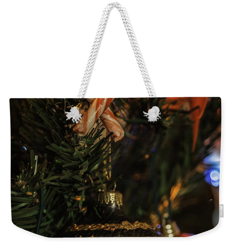 Love Christmas Weekender Tote Bag featuring the photograph Christmas Bokeh 3 by Steve Purnell