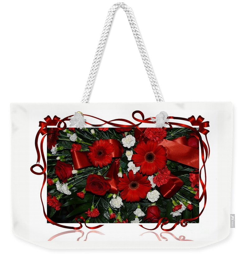 Christmas Weekender Tote Bag featuring the photograph Christmas Bouquet by Kathleen Struckle