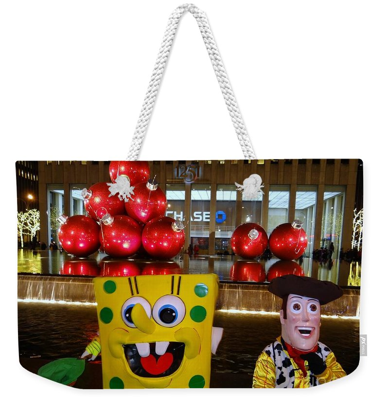 Christmas Weekender Tote Bag featuring the photograph Christmas Characters by Ed Weidman
