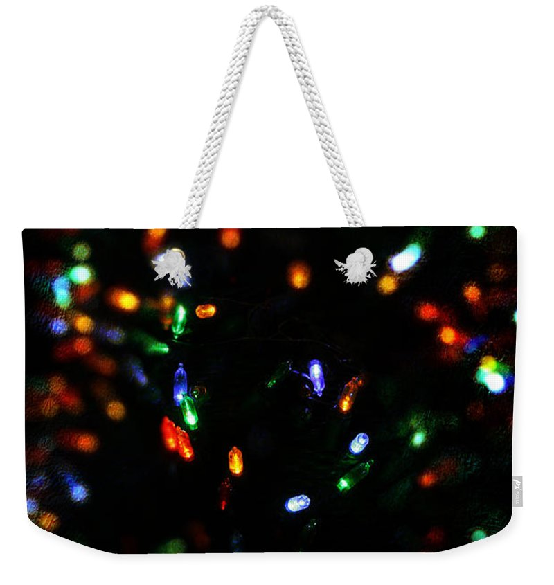 Christmas Weekender Tote Bag featuring the photograph Christmas Colors by Robin Lewis