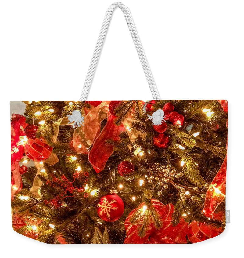 Optical Playground By Mp Ray Weekender Tote Bag featuring the photograph Christmas Dazzle by Optical Playground By MP Ray