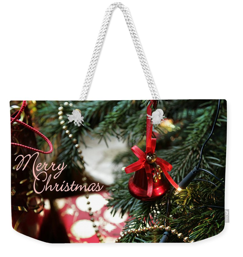 Christmas Card Weekender Tote Bag featuring the photograph Christmas Greetings by Mal Bray
