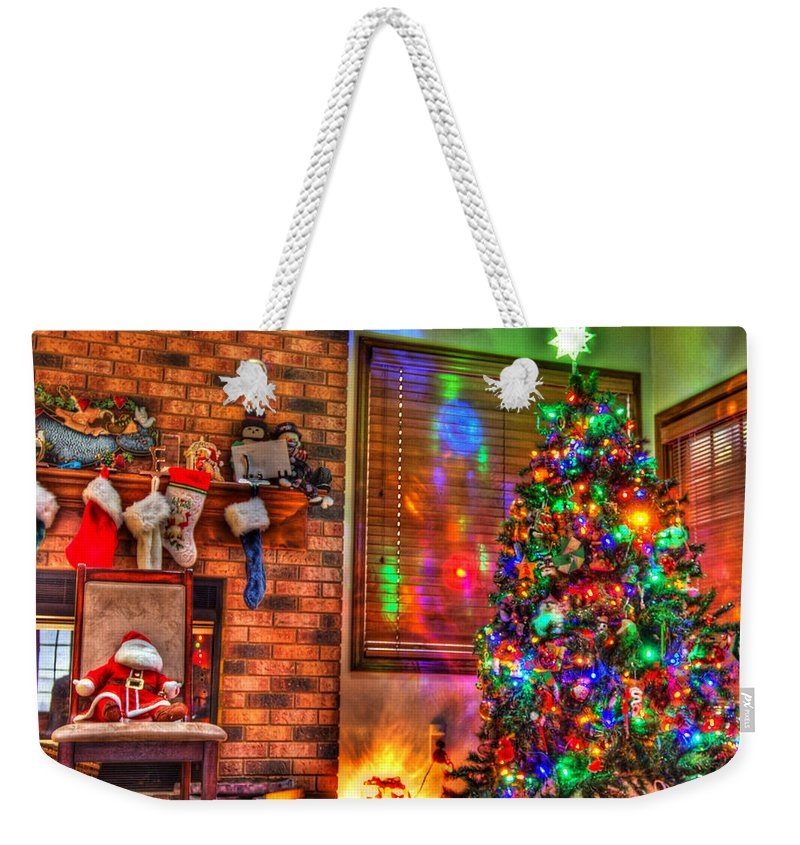 Christmas Weekender Tote Bag featuring the photograph Christmas In Hdr by Tim Buisman
