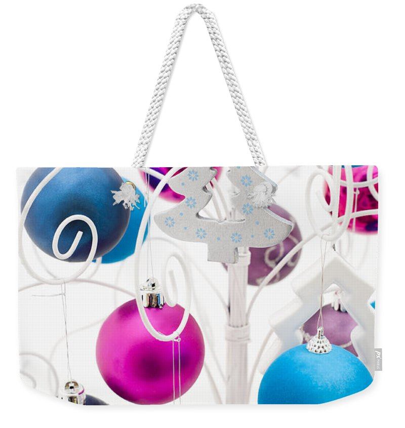 Alternative Weekender Tote Bag featuring the photograph Christmas Tree Tree by Anne Gilbert